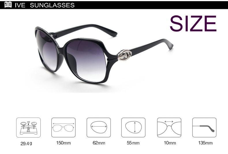 IVE Brand Design Big Size Women Sunglasses Fashion Retro Sunglass Reflective Lens Sunglasses Women Oculos De Sol KD9560