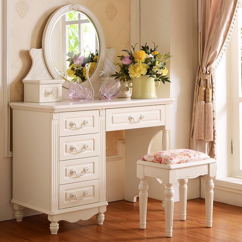 Korean fine furniture bedroom dresser dressing table wood for Cheap dressing table