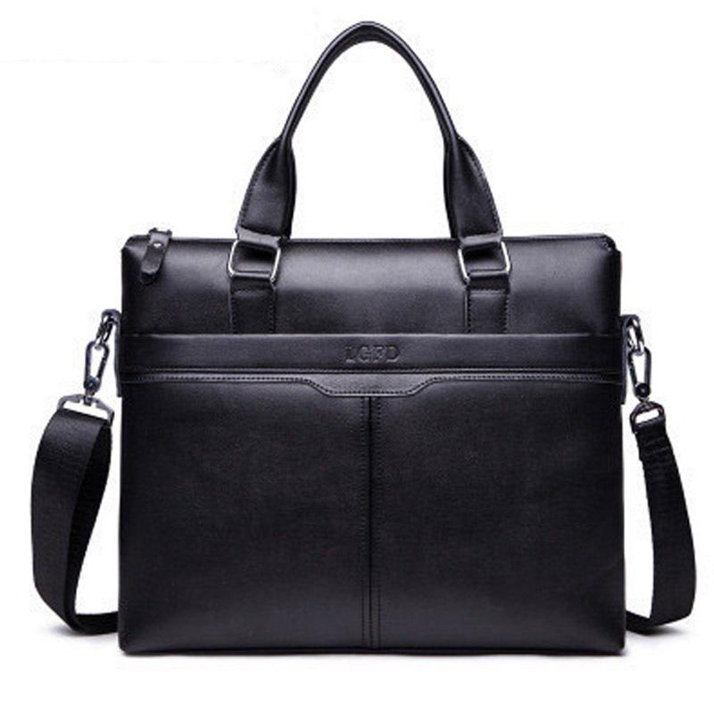 New product! 2015 male horizontal handbag commercial computer leather bag men messenger bags fashion men's travel bags(China (Mainland))