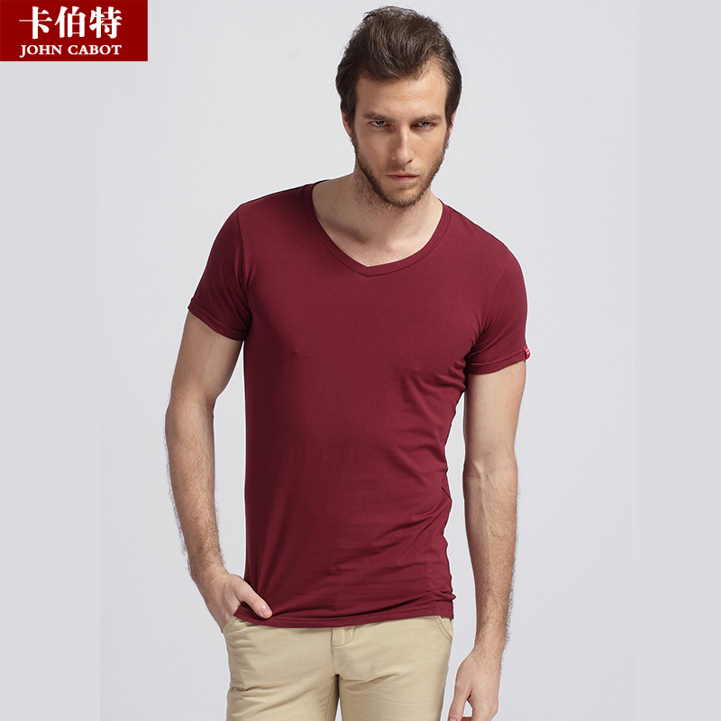 Free shipping 2015 new summer new solid modal men shirt for Modal t shirts mens