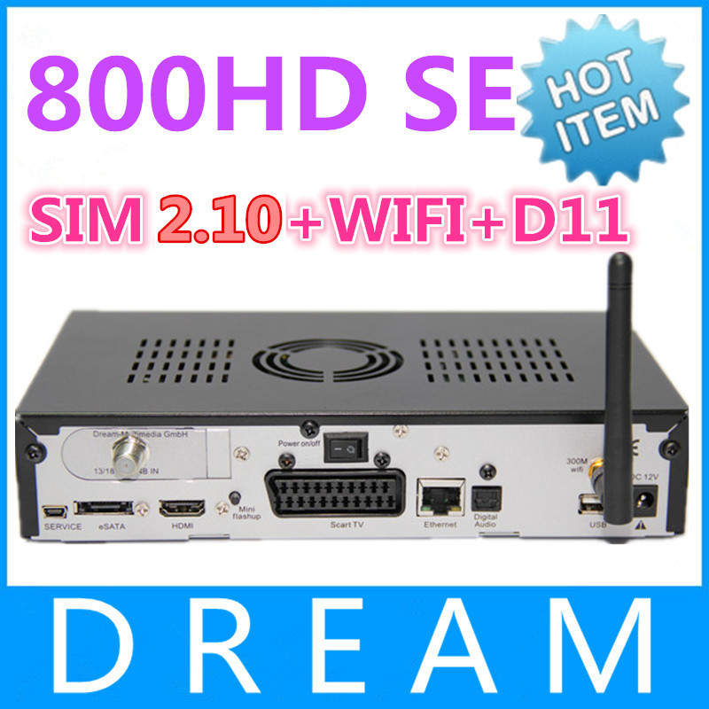 Satellite TV Receiver DM800se dm800hd se wifi Bootloader 84 D11 version SIM2.10 BCM4505 Tuner Decoder DM 800hd se Free Shipping(China (Mainland))