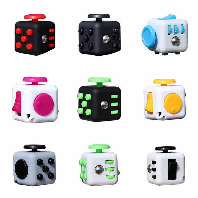 2017 Cute Antistress Cube Finger Activity Fidget Cube Out of Stress Fun Toy For Gift