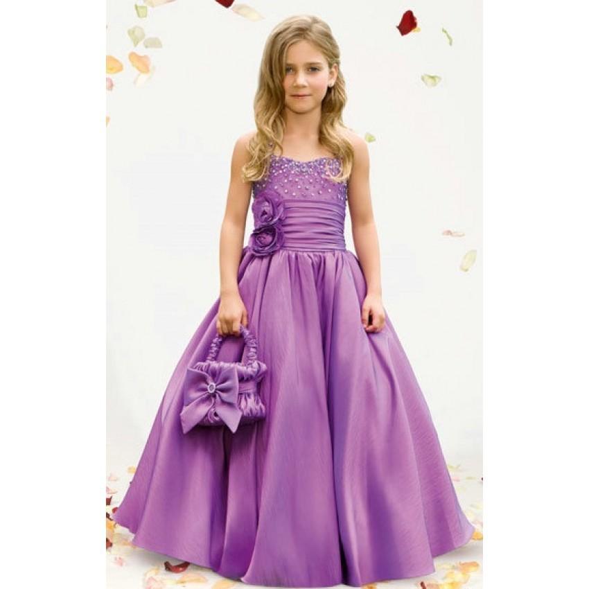 wholesale spaghetti strap flower girl dresses