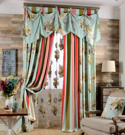 Brand high-grade printing Korean garden living room bedroom cozy beautiful custom curtains
