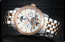 Binkada ver alta calidad hombres reloj mecánico automático de acero hueco impermeable moda volante relojes