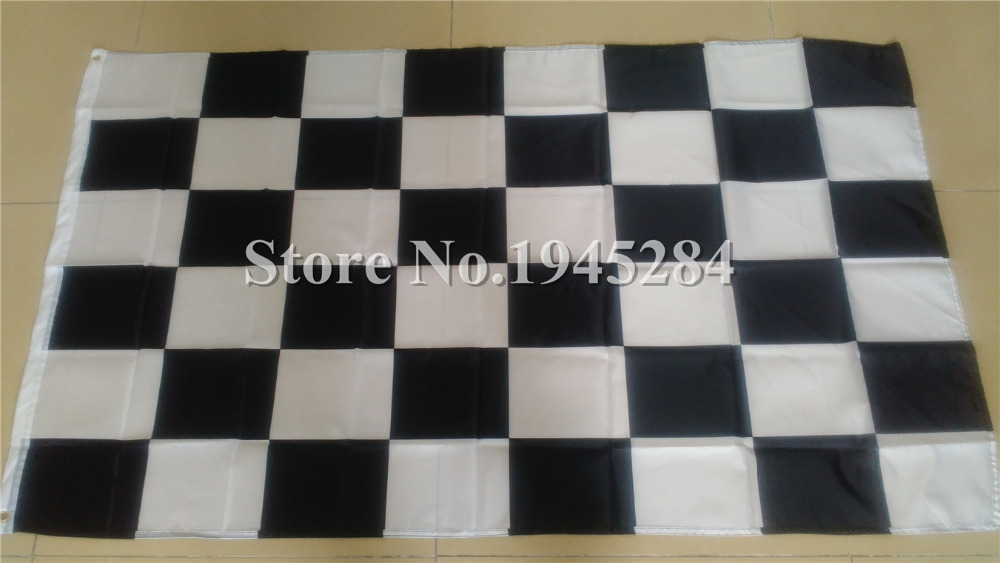 Black & White Checker Flag Race Racing nascar Flag Banner New 3x5ft 150X90cm 100D Polyester Flag, free shipping(China (Mainland))