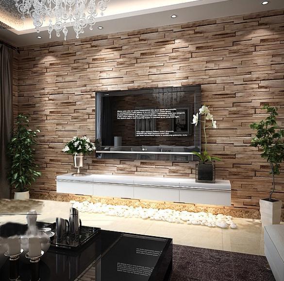 Wohnzimmer tv wand modern  die besten 25+ steinwand wohnzimmer ideen auf pinterest   tv wand ...