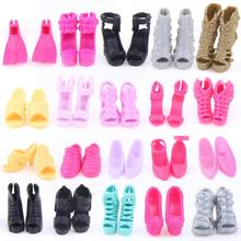 Random Pick A Lot = 50 Pairs Original Babie Shoes High Quality Mix Style Mix Color Shoes Accessories Barbie Doll Wholesale DIY(China (Mainland))