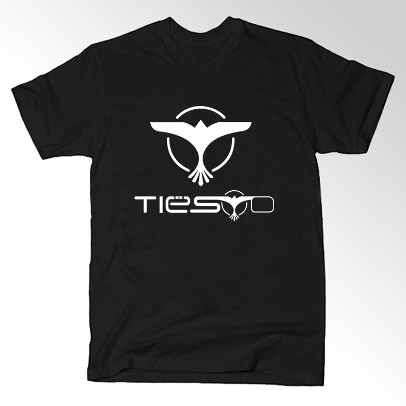 Men dj ties trance music logo t shirts male hiphop casual Dj t shirt design