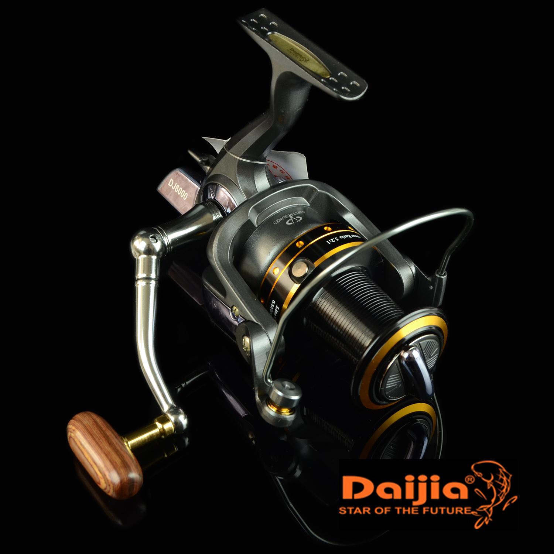 Fishing spinning reel DAIJIA Dj8000 aluminum alloy spool line coil 0.35mm/480m jig boatfishing wheel wire long casting reel(China (Mainland))