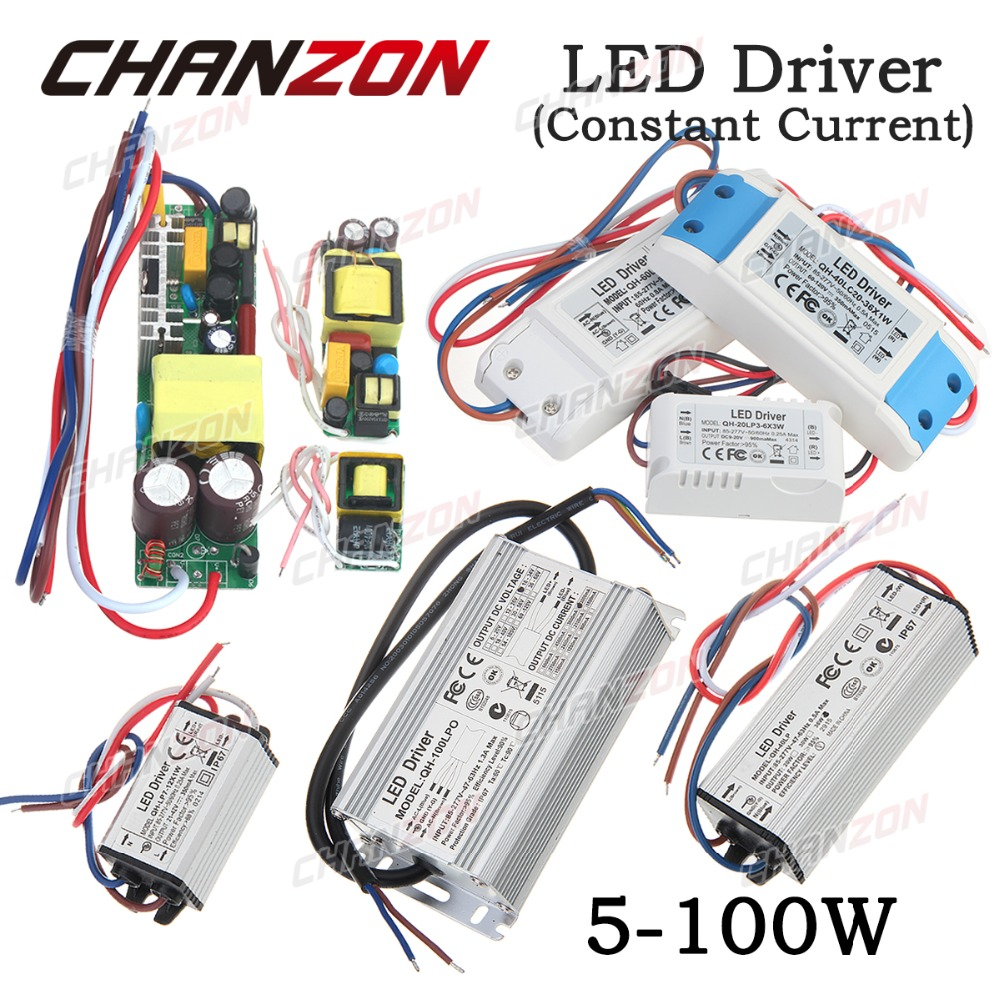 LED Driver Waterproof Power Supply Lighting Transformer 1W 3W 5W 9W 10W 12W 15W 18W 20W 24W 30W 36W 50W 100W 3 10 50 100 W Watt(China (Mainland))