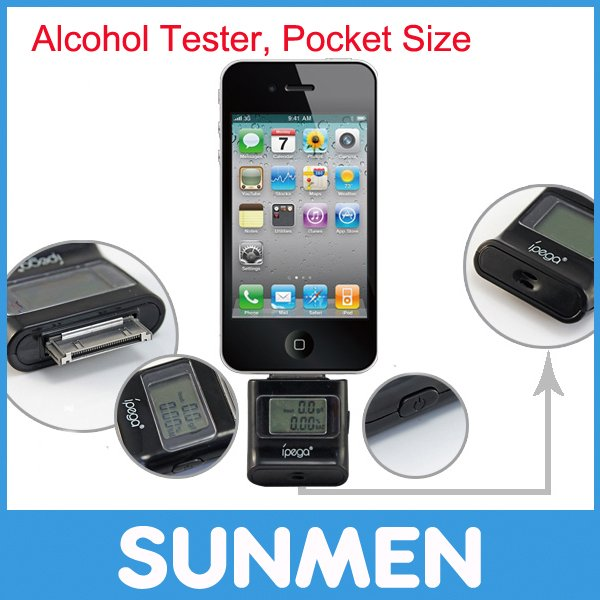 Free Shipping Portable Alcohol Tester Analyzer Breathalyzer for iPhone iPod iPad