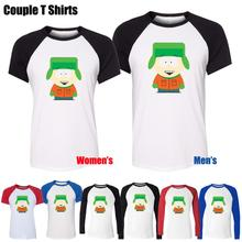 Kyle Broflovski in South Park Funny Design Printed T-Shirt Men's Boy's Graphic Tops Blue or Black Sleeve