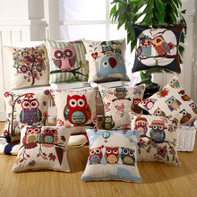 14 Style cute owl Printing pillowcases for Kids
