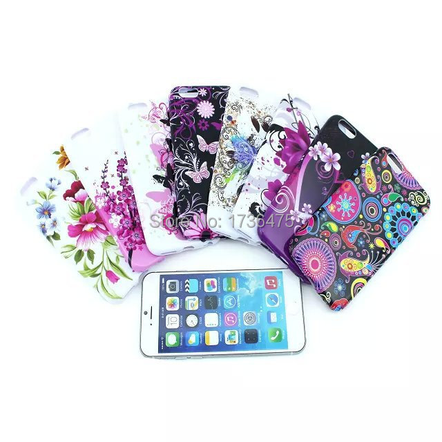 TPU Case for iPhone 6 New Arrival For Apple iPhone 6 Case Butterfly Flower Soft Silicon Design 4.7inch Phone capa Covers,FT022(China (Mainland))