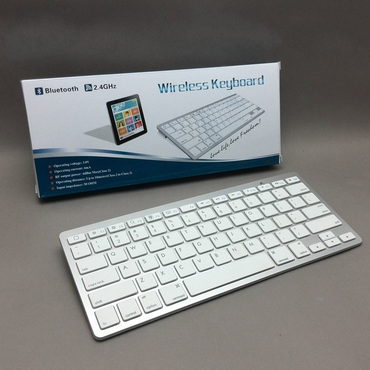 40pcs New Bluetooth Wireless Keyboard for iPad 2 3 4 Air iPad mini iPhone Samsung Android Tablet with retail box(China (Mainland))