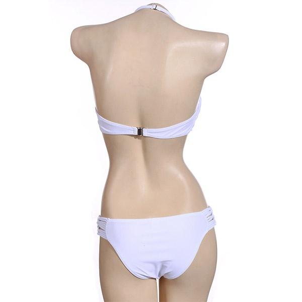 Women Sexy Swimwear Mesh Crochet Crop Tops Bikini Swimsuit Beach Bathing Suit X16