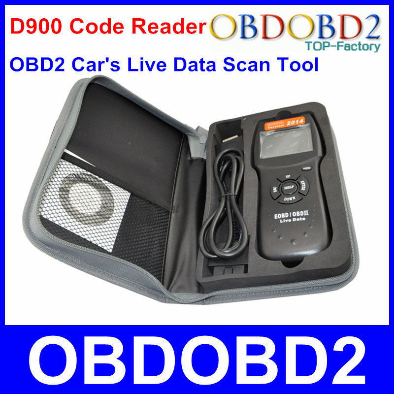 Universal D900 EOBD OBD2 Scanner Car's Engine D900 Code Reader Diagnostic Tool For Multi Brand Cars 2014 Verison In Stock(China (Mainland))