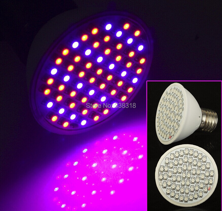 Е27 6ВТ 40Red:20Blue 60 светодиодов LED растений растут свет для цветущих растений и Гидропоники системы