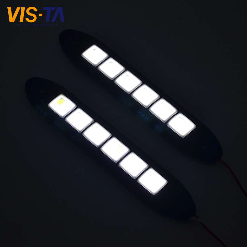 2PCS/lot Car COB DRL Driving Fog Light LED Flexible Daytime Running Light For Honda/Toyota/Hyundai/VW/Kia/Mazda/Buick/Nissan etc(China (Mainland))