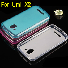 New arrival ! Transparent soft TPU case for UMI X2  free shipping ,5 colors for you choose