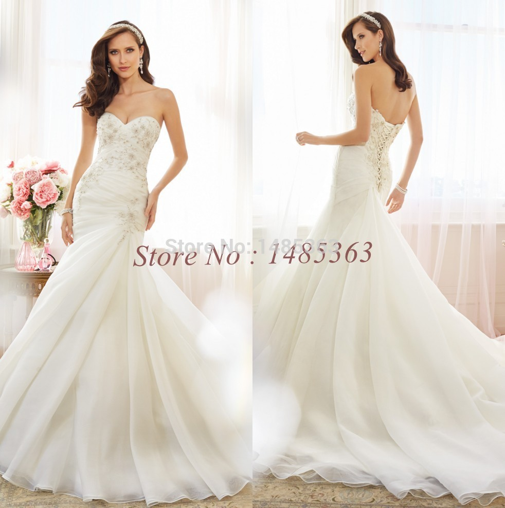 Fashion white ivory sweetheart bridal gowns plus size lace for Corset wedding dresses plus size