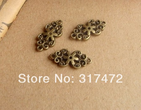 Free shipping!Antique accessories listed on restoring ancient ways zipper head green bronze double hole pattern fitting 19*10mm <br><br>Aliexpress