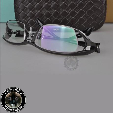 Original genuine titanium full frame eyewear fashion men women business eyeglasses ultralight myopia large glasses - A-Zed Luxury Eyeglasses store