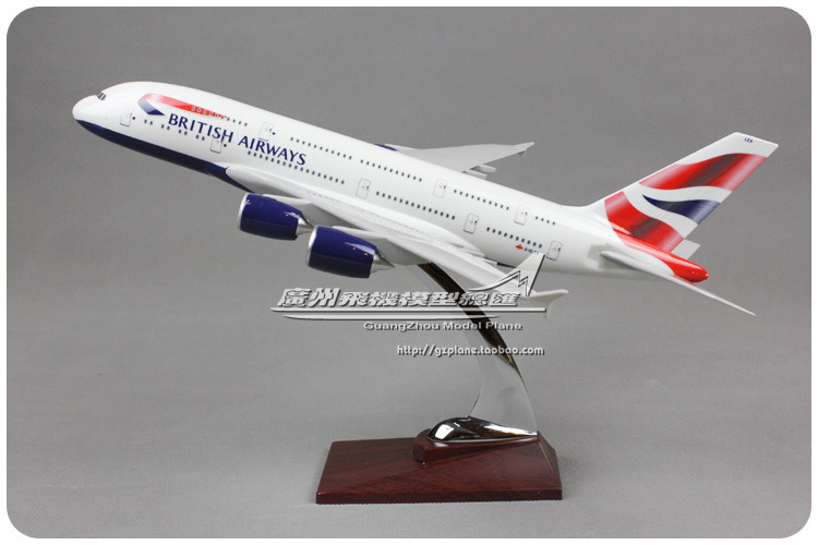 35cm Resin Air British Airways Airlines Airbus A380 G-XLEA Airways Plane Model Airplane Model Toy Collections(China (Mainland))