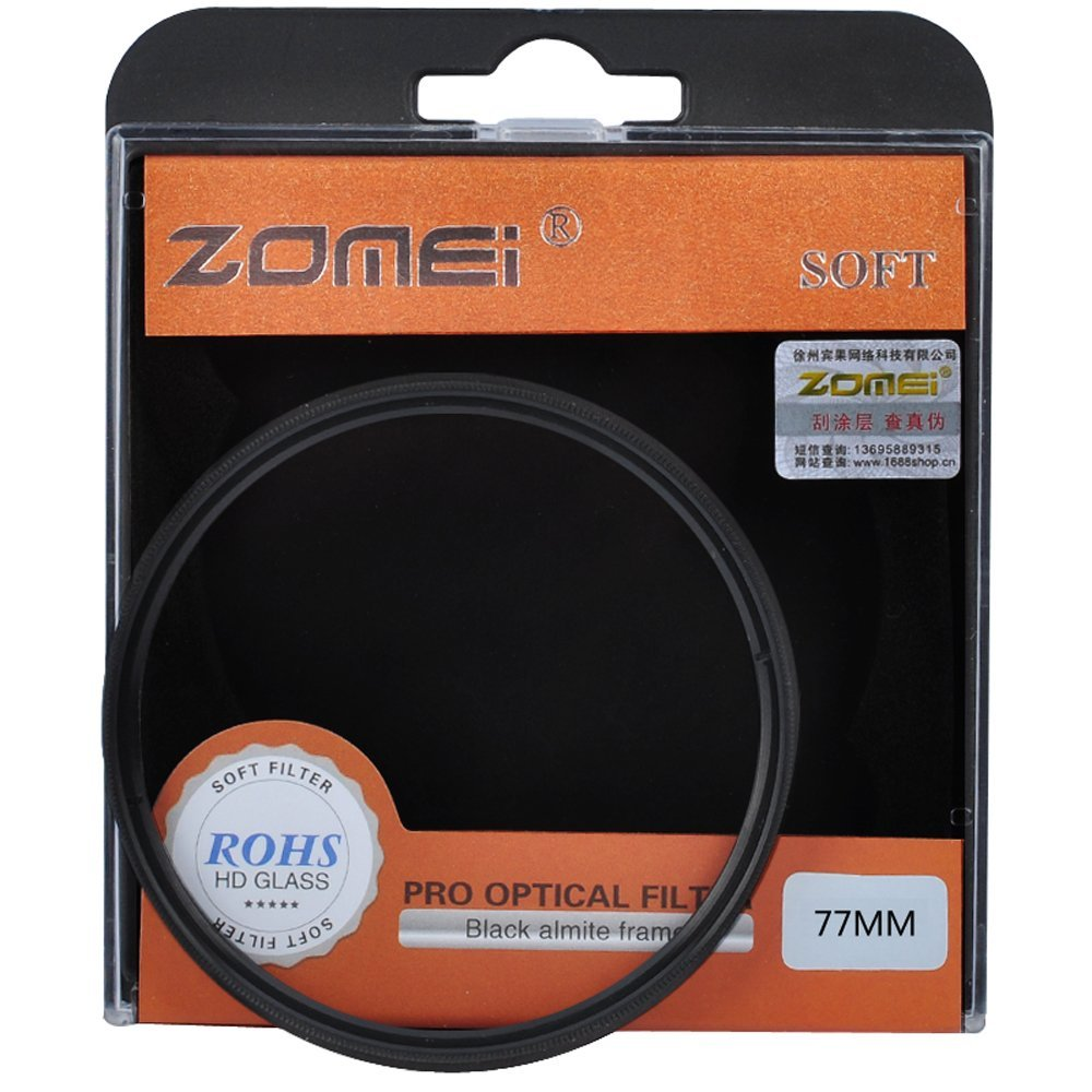 Zomei 58mm SF Circular Filter Soft Focus Effect Diffuser Filter Hazy Filter For Nikon 55-300mm Canon 70-300mm 70-300mm DSLR SLR(China (Mainland))