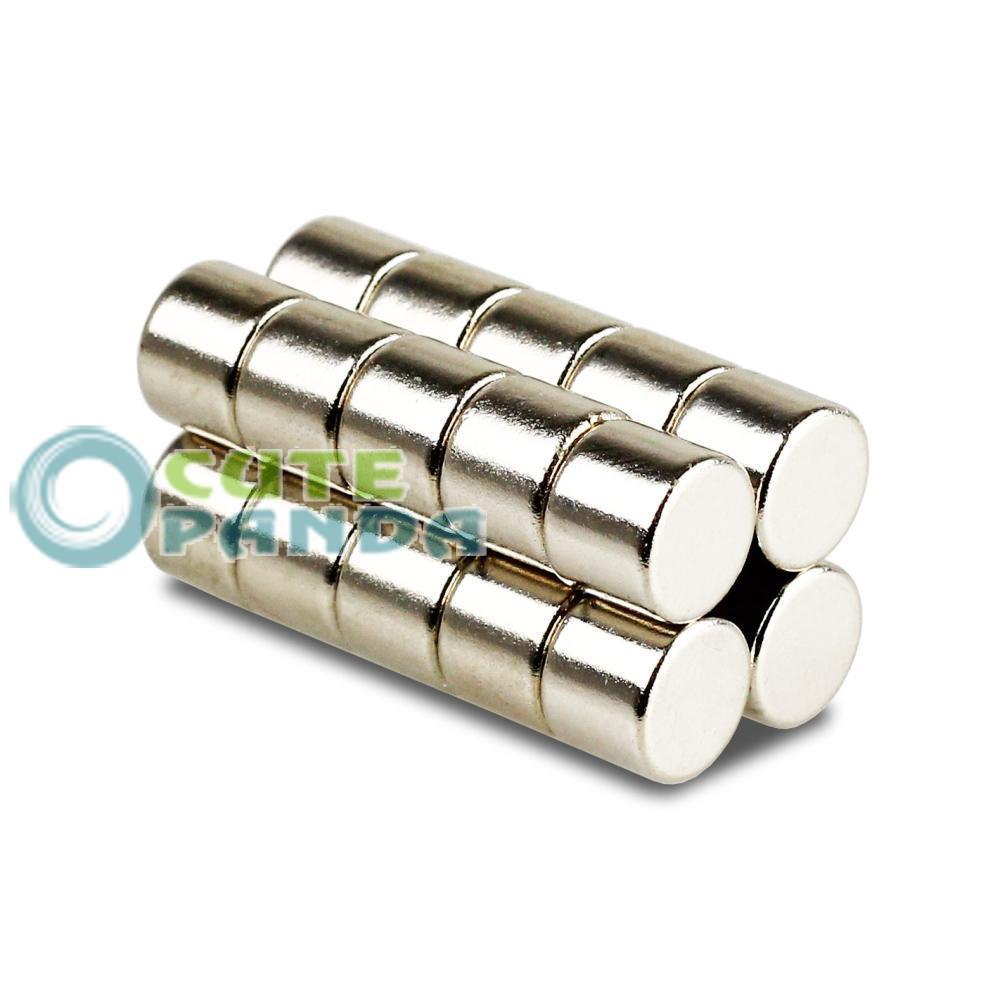 Гаджет  Lots 100 pcs Strong Round Disc Cylinder Magnets 10 mm x 8 mm Rare Earth Neodymium  None Строительство и Недвижимость