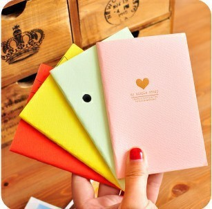 New hot 2015 Korea style candy color cartoon mini student notebook diary book stationery creative notepad free shipping(China (Mainland))