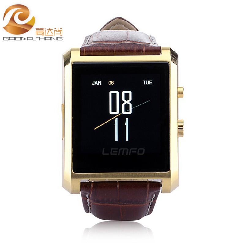 2016 DM08 Bluetooth Smart Watch Men Leather IPS Smartwatch ...