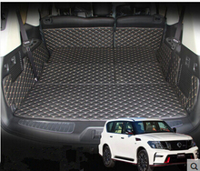 Betst quality & Free shipping! Special trunk mats for Nissan Patrol 7seats 2016-2014 waterproof boot carpets for Patrol 2015(China (Mainland))