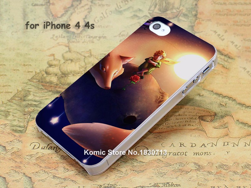 The Little Prince with fos hard transparent clear Cover Case for iPhone SE 4 4s 5 5s 5c 6 6s Plus