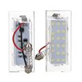 One Pair 12V 18 LEDs Number License Plate Lights White Lamp for BMW X5 E53 ME3L
