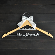 Custom Wedding Hanger with bowknot, Two Line Name Hanger, Personalized Bridal Hanger, Bridesmaids Name(China (Mainland))