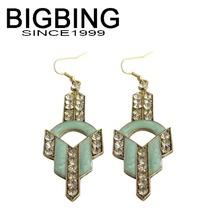 Bigbig Fashion accessories fresh green crystal dangle earrings c001(China (Mainland))