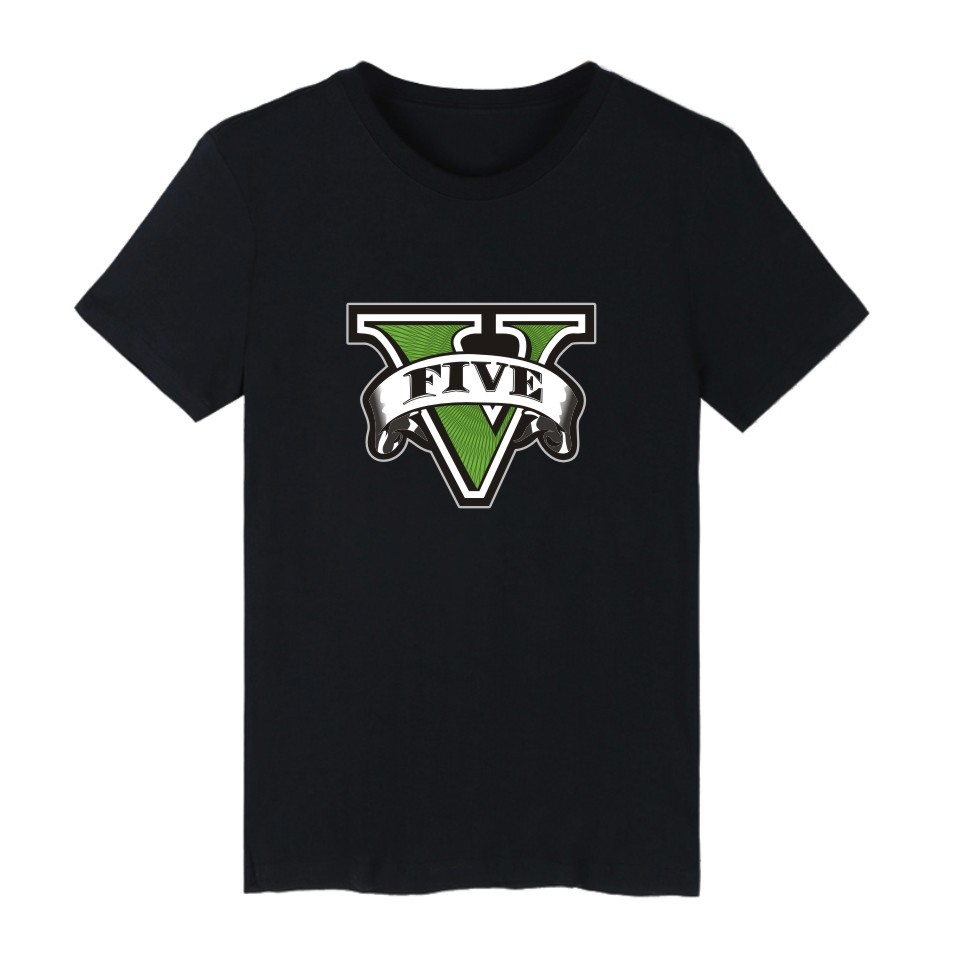 Grand Theft Auto Game GTA 5 4XL Men Summer T Shirts Cool and GTA5 Men TShirt Colorful Print T-shirt in Couples Tee Shirt Funny(China (Mainland))