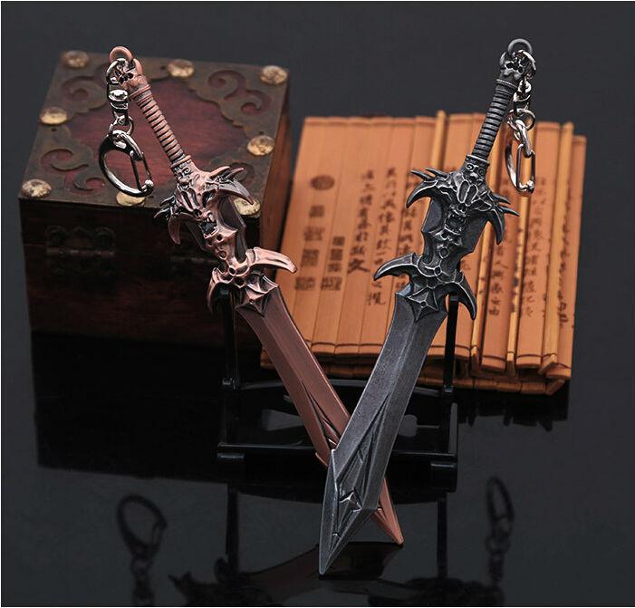 Top quality Hot PC DOTA 2 Weapon Keychain 1pc Alloy Demon Model Hot Sale Pendant in box DOTA 2 Weapon Keychain<br><br>Aliexpress