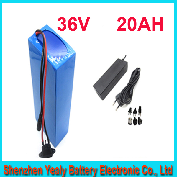 ebike lithium battery 36v 20ah lithium ion bicycle 36v electric scooter battery for kit electric bike 1000w with BMS , Charger(China (Mainland))