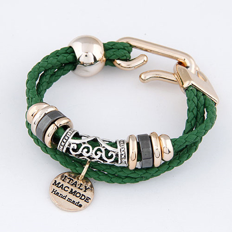 Bracelets for Women Rope Leather Charm Bracelets Bangles Men Jewelry Bijoux Circular Pulseira Feminina Pulsera Mujer