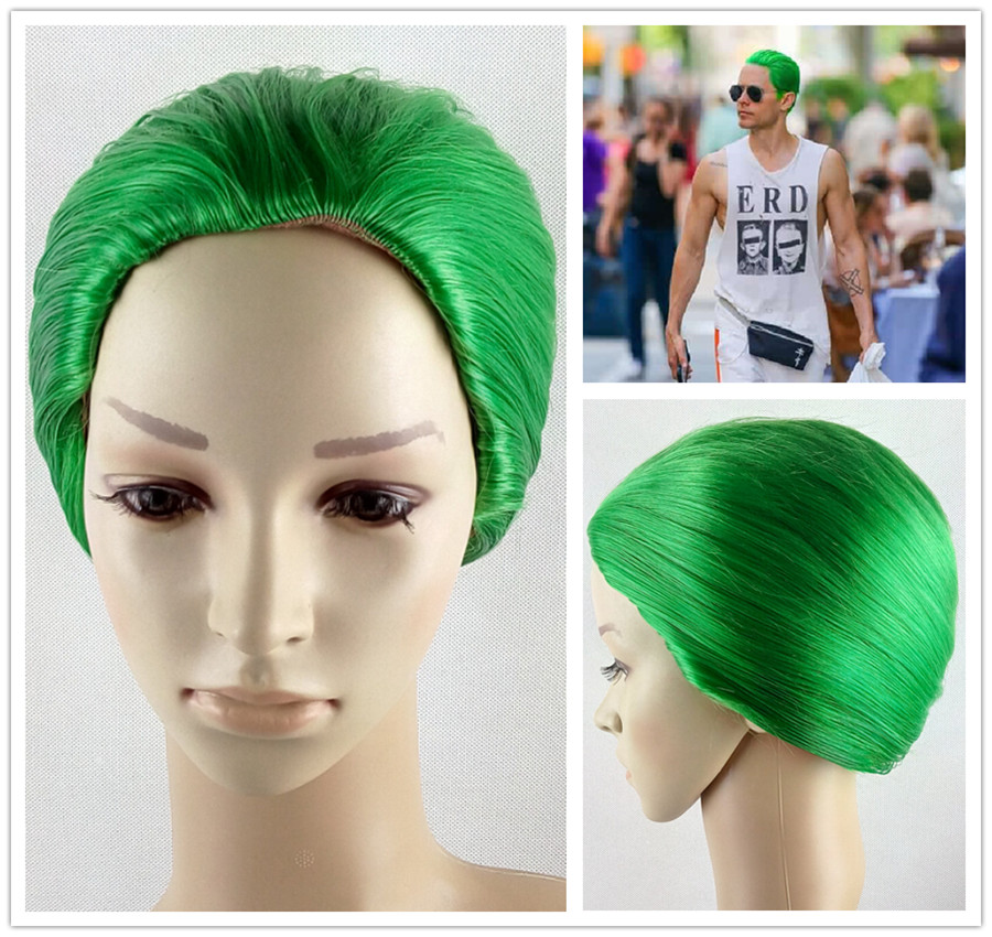 2015 New Design DC Comics Film Suicide Squad Jared Leto Cosplay Wig Batman Joker Green Styled Wigs<br><br>Aliexpress
