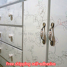 Waterproof wood furniture renovation stickers Self Adhesive  Wallpaper Rolls for Kitchen Furniture Bathroom 3D  Wall Stickers(China (Mainland))