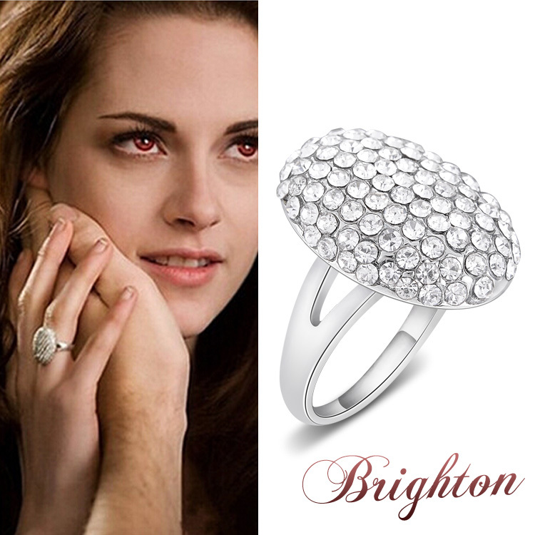 2015 fashion crystal jewelry the twilight breaking dawn Bella wedding rings for women high quality(China (Mainland))