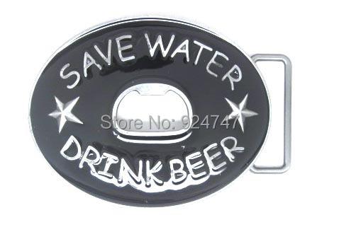 Save Water Drink Beer Bottle Opener Funny Belt Buckle(China (Mainland))