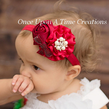Buy TWDVS Newborn Flower Hair Band Rose Pearl Elastic Kids Hair Accessories Fashion Ring Flower Headband W095 for $1.25 in AliExpress store