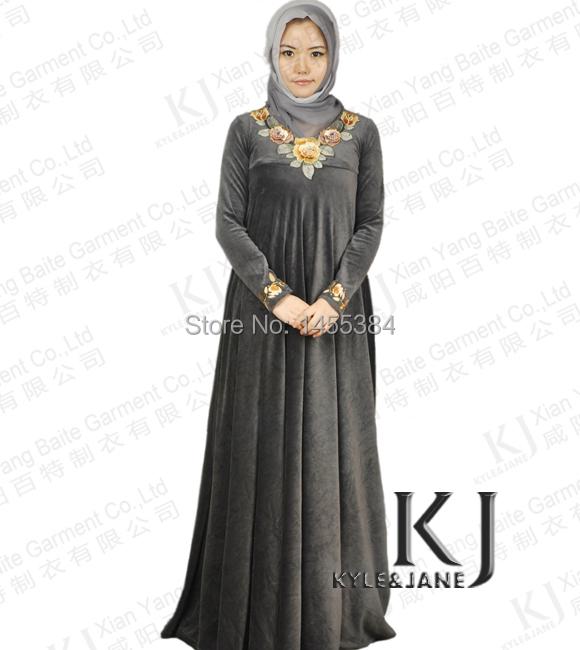 Model Middle Eastern Women Dress Women Wear All Black