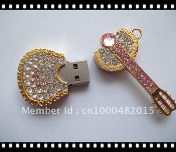2GB/4GB/8GB/16GB/32GB Jewerly USB Flash Driver,Full Capacity Diamond USB Memory Disk,Guita USB Pen Disk