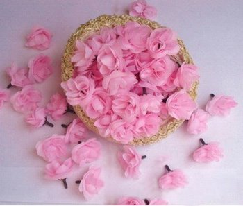 Factory Director 500pcs/lot mixed color 1.2'' Artificial Flowers head simulation flowers head